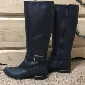 Great condition navy Nine West tall riding boots
